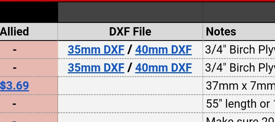 Photo of the dxf link
